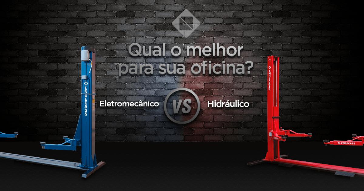 Comparação entre elevador hidráulico e elevador eletromecânico