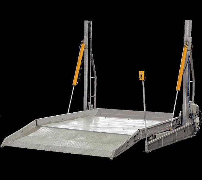 Duplicadores de vagas — Duplicador de Vagas com plataforma integral   Engecass