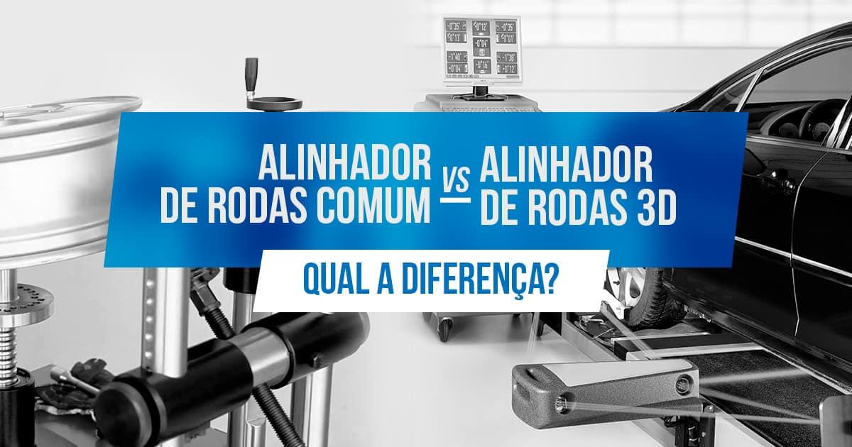 Qual a diferença entre alinhador de rodas comum e alinhador digital 3d?