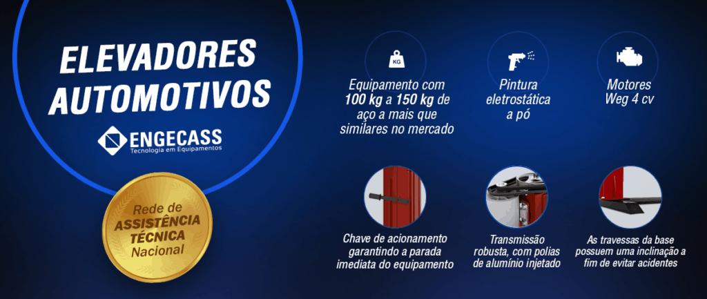 Elevadores Automotivos Engecass conta com Rede de Assistência Técnica Nacional
