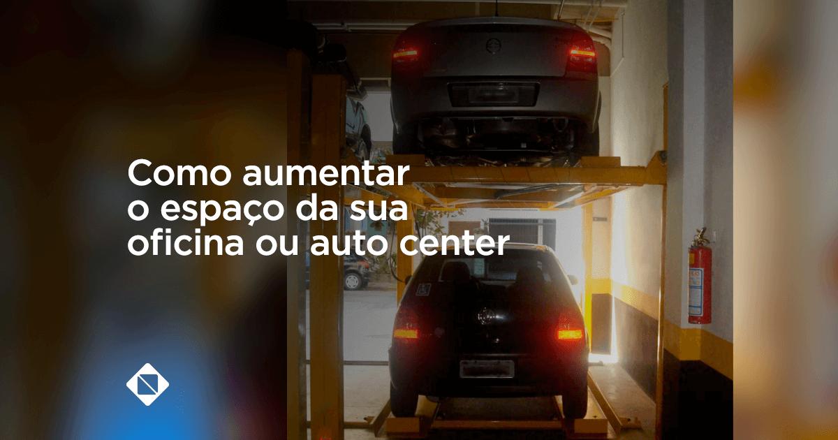 aumentar o espaço da oficina ou auto center com duplicador de vagas