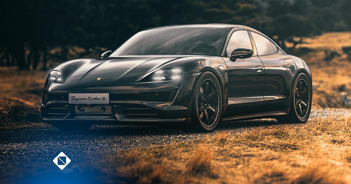 Carros elétricos - na imagem há um modelo de carro elétrico na cor preta